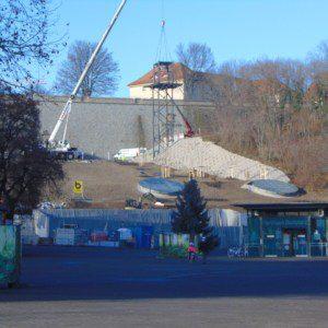 BUGA 2021 Aufzugsturm Petersberg